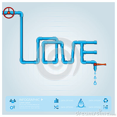 Water Pipe Business Infographic For Valentine Day