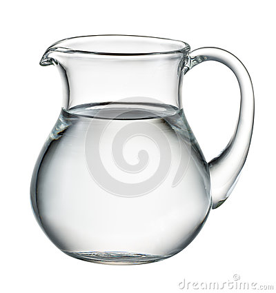 Free Water Pitcher Isolated On White. With Clipping Path Stock Image - 70932401