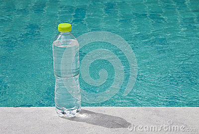 Water placed in the pool.