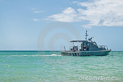 Water Police patrolling the coast Editorial Image