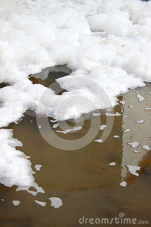 Free Water Pollution With Foam Royalty Free Stock Photo - 29387705