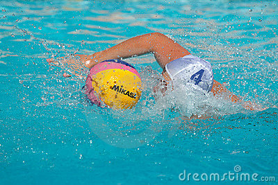 Water polo action Editorial Stock Image