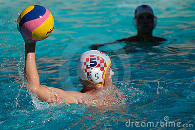 Water polo action Editorial Image