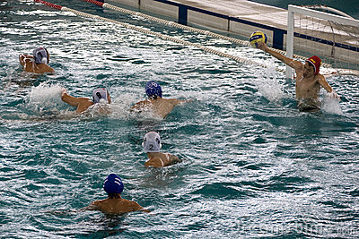 Water Polo Action Editorial Photography