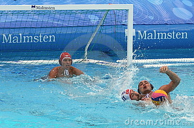 Water Polo Centers / Struggle Editorial Stock Image