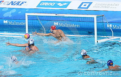 Water Polo / Innefective Goalkeeper Editorial Stock Photo
