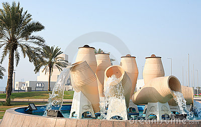 Water pot fountain Doha