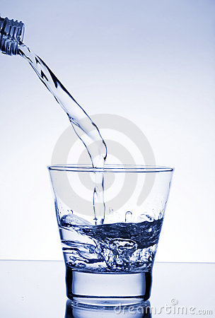 Free Water Poured Into Glass Royalty Free Stock Photos - 4298338