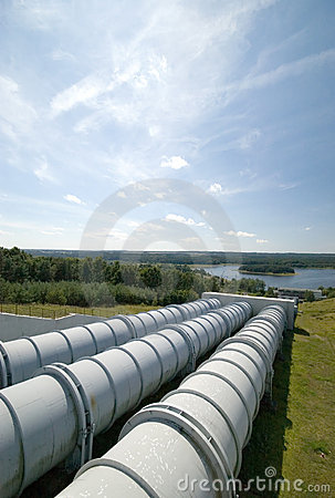 Free Water Power Plant. Stock Image - 2787721