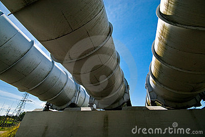 Water power plant pipes