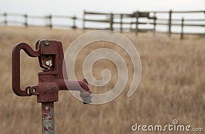 Water pump on prairie