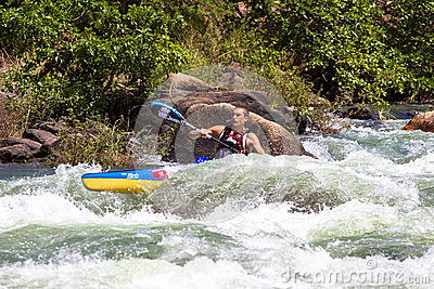 Water Rapids Canoe Race  Editorial Photography