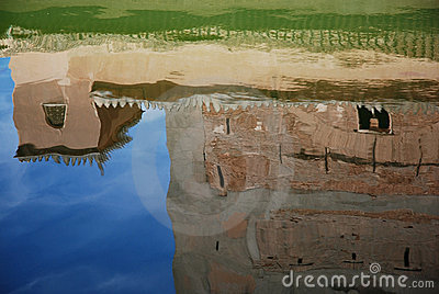 Water reflection of the Alhambra palace