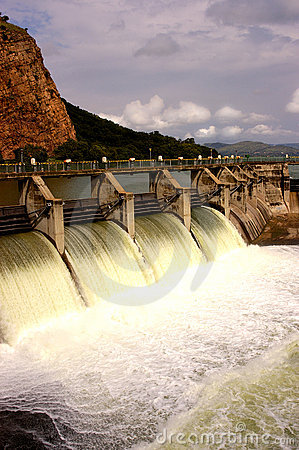 Free Water Release At Dam Wall Stock Photo - 8023530