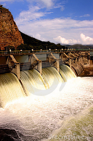 Free Water Release At Dam Wall Royalty Free Stock Image - 9395136