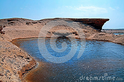 A water reserve in the desert of Egypt