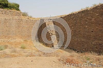Water reservoir of Harappan civilization site