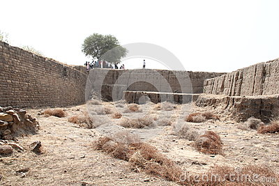 Water reservoir of Harappan civilization site Editorial Photo