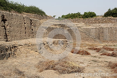 Water reservoir of Harappan civilization site
