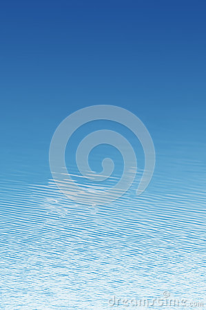 Water ripple blue