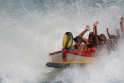 water roller coaster  Editorial Stock Photo
