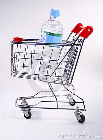 Water shopping cart