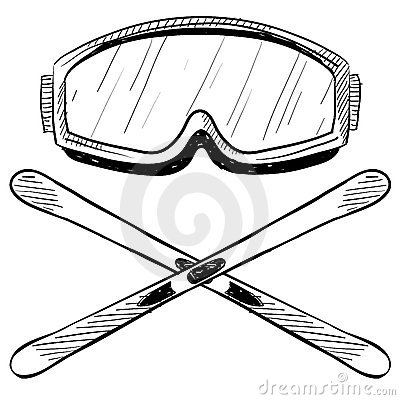 Water Skiing Gear Drawing Royalty Free Stock Photos - Image: 22459458
