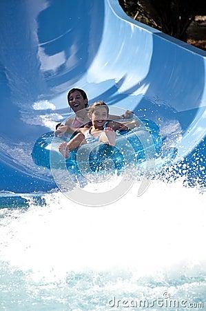 Free Water Slide Fun Royalty Free Stock Photo - 18290795