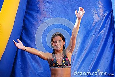 Water Slide Girl