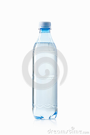 Free Water. Small Plastic Water Bottle On White Background Royalty Free Stock Photo - 49906165