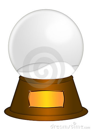 Water Snow Globe with Blank Title Plaque