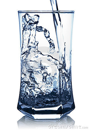 Water Spash in A Glass