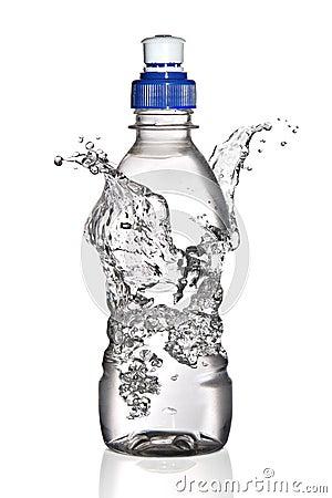 Water splash around bottle (concept)