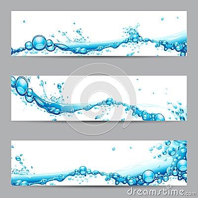 Free Water Splash Banner Royalty Free Stock Photos - 25852118