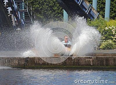 Water splash fairground ride Editorial Photography