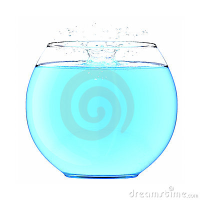 Water splash in a fishbowl