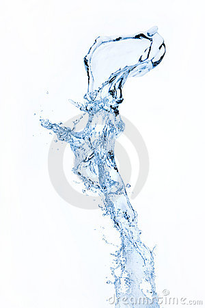 Free Water Splash Isolated On White Stock Photos - 8033573