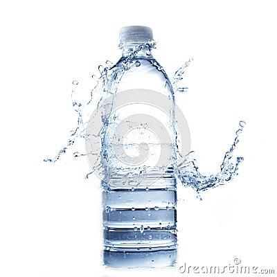 Free Water Splash On Water Bottle On White Stock Photo - 20762220
