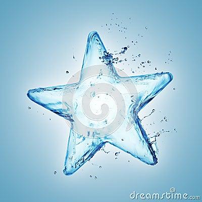 Free Water Splash Star Stock Photo - 29150480
