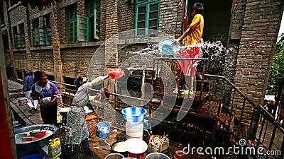 Water-splashing Festival Editorial Stock Image