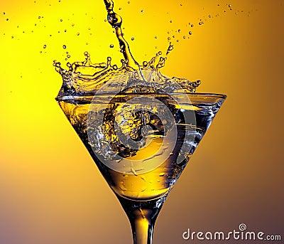 Martini cocktail splash