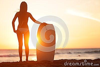Water sport bodyboarding surfer woman beach travel