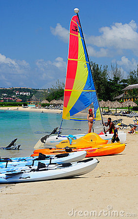 Free Water Sports On A Carribean Beach Royalty Free Stock Images - 23597989