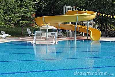 Water sports in swimming pool