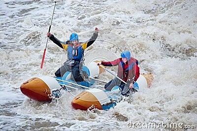 Water sportsmen in threshold Editorial Stock Photo