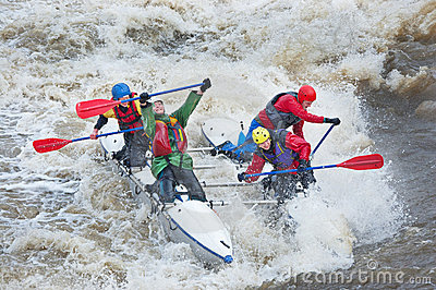 Water sportsmen in threshold Editorial Stock Photo
