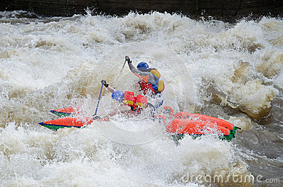 Water sportsmen in threshold Editorial Stock Image