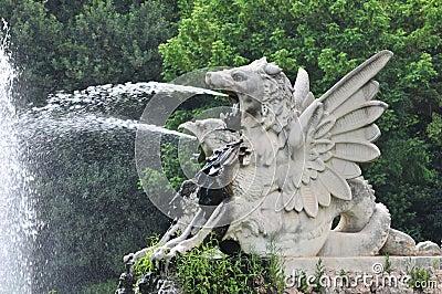 Water spout dragon