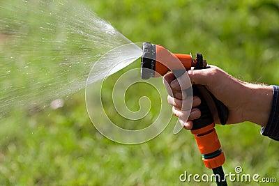 Water sprinkler in the sun