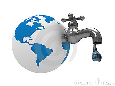 Water stocks on earth